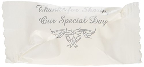 Wrapped Wedding Buttermints 108 Pc Bag (Thanks for Sharing Our Special Day) by toyco