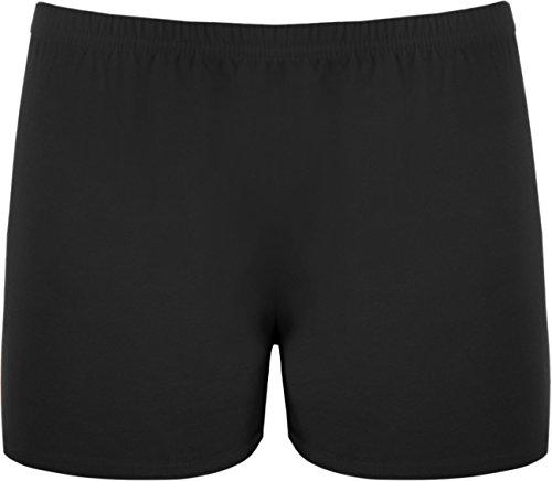new-ladies-stretch-shorts-womens-hot-pants-black-8-10