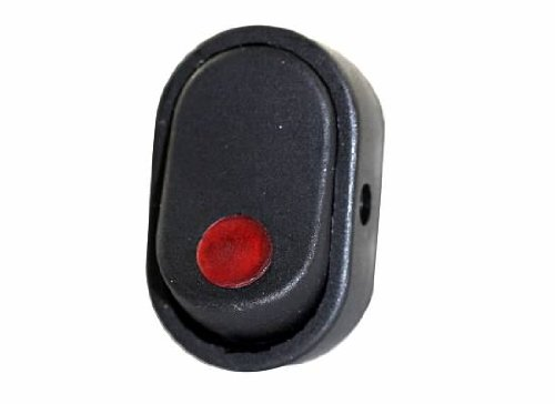 Jt&T Products (2702-2J) - 16 Amp @ 12 Volt, Illuminated On/Off Oval Rocker Switch, Red