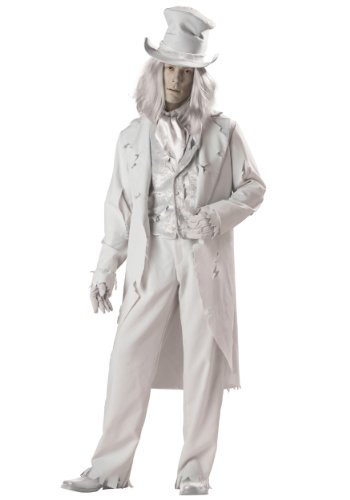Incharacter Mens Ghostly Gent Theme Party White Fancy Dress Halloween Costume
