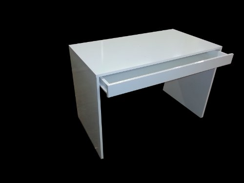 White Gloss Home Office Desk Workstation with Keyboard Drawer,quality item!