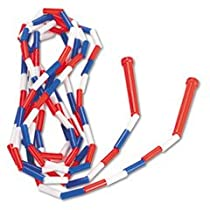 Champion Sports Segmented Plastic Jump Rope, 16Ft, Red/Blue/White