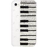 【iPhoneデコケース】iPhone4/iPhone 4s デコケース ピアノ ホワイト