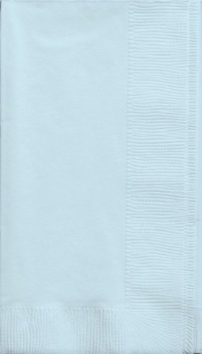 Creative Converting Touch of Color 2-Ply 50 Count Paper Dinner Napkins, Pastel Blue
