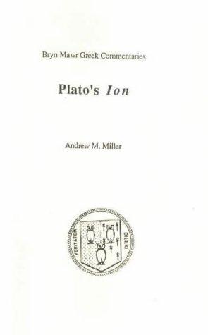 Plato: Ion (Bryn Mawr Greek Commentaries)