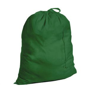 Fabric Drawstring Laundry Bag (Hunter Green)
