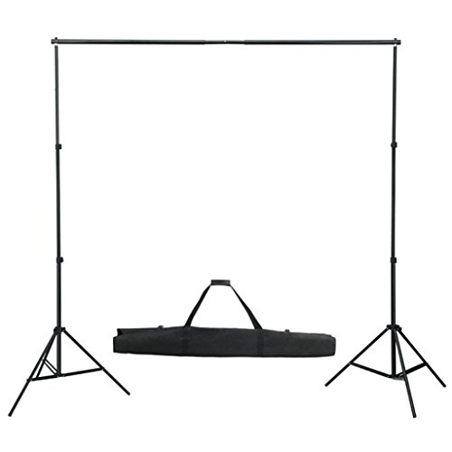 Kit support de fond pour studio photo 300 cm sans toile trépied + sac