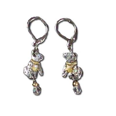 Dog Earrings, Pewter by Nanette Orijinels