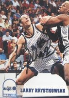 Larry Krystkowiak Orlando Magic 1994 NBA Hoops Autographed Hand Signed Trading Card -... by Hall+of+Fame+Memorabilia