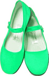 Cheap Mary Jane Cotton China Doll Slippers in US Women's Sizes (Lt. Green) (B002DVVIIW)