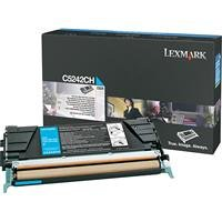 Lexmark C5242CH High yield laser toner cartridge for lexmark c524/c532/c534, 5k yield, cyan
