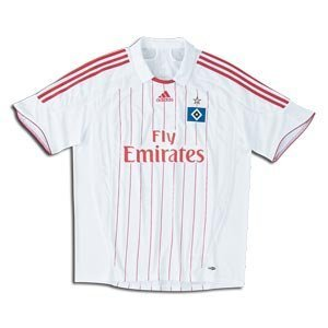 adidas Hamburg White Home Performance Soccer Jersey (X-Large)