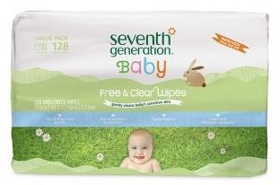 Seventh Generation Free & Clear Baby Wipes Thicker and Softer, 128 ct. pack