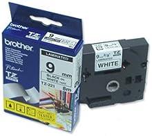 Brother TZe-221 - Cintas para impresoras de etiquetas (TZ, Negro, Inyección de tinta, 9 mm, 8m, Presentación Caja)