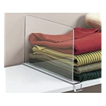 Acrylic Shelf Divider - Clear