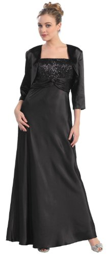 Mother of the Bride Formal Evening Dress #565 (5XL, Black)