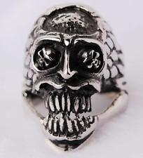buy Skullcando 316L Stainless Steel Rings Skull Black Modern Ring Band Skeleton Gothic Devil Us Size 8