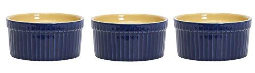 C.R. Gibson QRS-14118 Art of Cooking Porcelain Ramekin Set, Multicolor