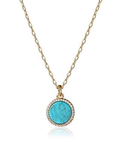 Chloe + Theodora Turquoise CZ Pendant Necklace