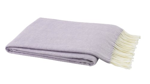 Lands Downunder Lilac Assiro Herringbone Throw back-468814