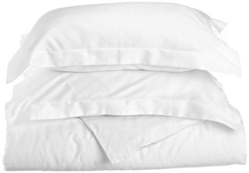Impressions Genuine Egyptian Cotton 400 Thread Count King/California King 3-Piece Duvet Cover Set Solid, White back-848502