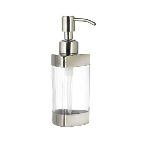 Axentia 282400 - Dispenser per sapone Festus in acciaio INOX con finestra