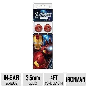 Marvel Stereo Earbuds - Avenger Iron Man