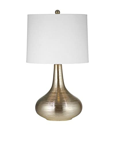 Bassett Mirror Co. Norco Table Lamp, Silver Leaf