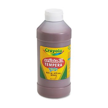 6 Pack Artista II Washable Tempera Paint, Brown, 16 oz by Crayola. (Catalog Category: Paper, Pens & Desk Supplies / Art & Drafting)