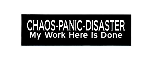 Motorcycle Helmet Sticker - Chaos-Panic-Disaster My Work Here Is Done (Panic Cycles compare prices)