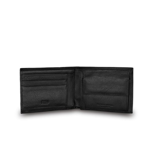 Portafoglio uomo in pelle portamonete e banconote Nuvola Pelle Nero