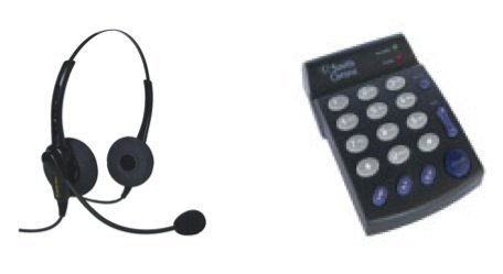 Smith Corona Classic Binaural Headset W/Pd100 Dial Pad - Great For Home Office Professionals