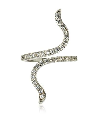 Diamond Style Anillo Entwine Ring Metal Dorado / Blanco