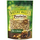 Nature Valley, High Protein Granola, Oats and Honey, 11oz Bag (Pack of 4) by Nature Valley