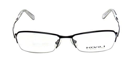 koali-7123k-womens-ladies-vision-care-genuine-designer-half-rim-eyeglasses-eyewear-52-16-135-black-w