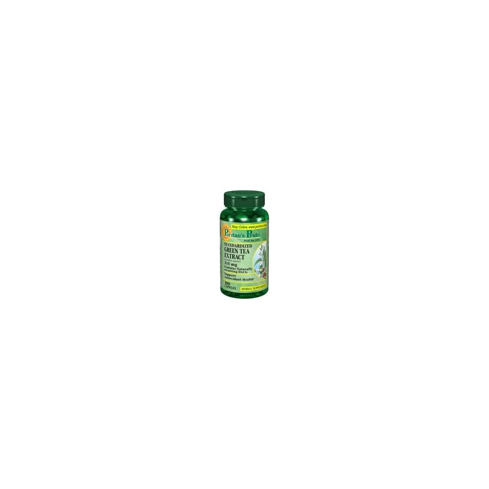 Puritans Pride 2 Units of Green Tea Standardized Extract 315 mg 100 C