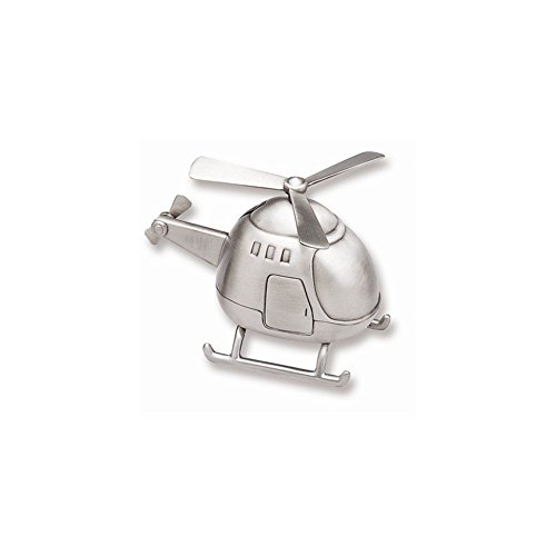 Elegance Helicopter Bank - Pewter Finish