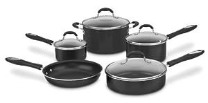 Cuisinart 55-9BK Advantage Nonstick 9-Piece Cookware Set, Black by Cuisinart