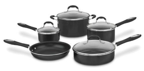 Cuisinart 55-9BK Advantage Nonstick 9-Piece Cookware Set, Black