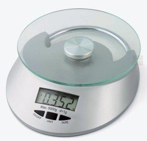 CHEVALIER DIFFUSION - Balance de cuisine Digitale 5 Kg RONDO silver*
