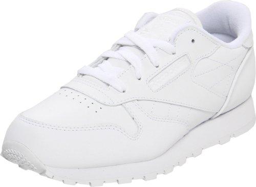 Reebok Classic Leather Shoe,White/White/White,2 M Us Infant front-973227