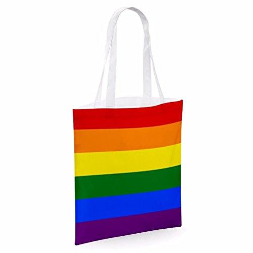 Tote bag pour femme Imprimé Love Arc En Ciel LGBT imprimé sac épaule sacs en toile
