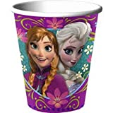 American Greetings Frozen 9-Ounce Paper Party Cups, Pack of 8, Party Supplies