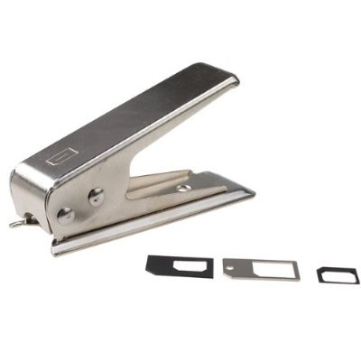 niceEshop(TM) Silver Nano SIM Card Cutter with 2 Sim Adapters & Metal Tray Fit for the New Iphone5 5G +Free niceEshop Cable Tie