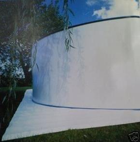Gre MPR350 Tappeto di fondo feltro per piscina, 110 g/m² ...