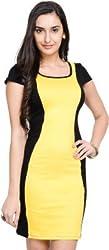 Addyvero Women's A-line Yellow Dress