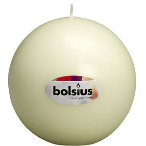 Bolsius Large Ivory Long Burn Ball Candle 145cm from White Candle Company