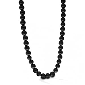 Bling Jewelry Sterling Silver Beaded Black Onyx Necklace