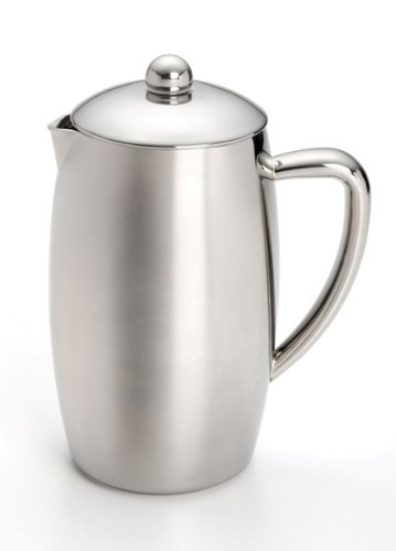 BonJour French Press Triomphe 8-Cup Double Wall Insulated Stainless Steel with Flavor Lock Brewing
