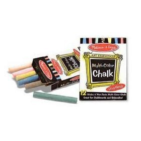 Melissa Doug Educational Toy MultiColored Chalk Sticks
